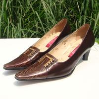 Genuine Leather Shoes Woman Pumps High Heels Vintage Pumps