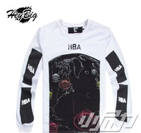 2014 New Style men women HBA Hood By Air Cotton round neck long-sleeved T-shirt