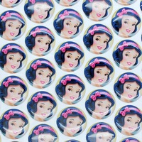 1'' Free shipping snow white 3D dome round clear Epoxy Resin sticker for Bottle cap DIY Self Adhesive hair bow 25mm H2543