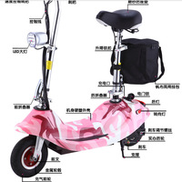 Ms mini electric small folding storage battery electric bicycle electric scooter moped