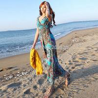 2014 summer women new style bohemian maxi dress Pastoral