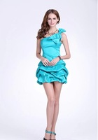 2014 new big bow long dress wholesale custom models