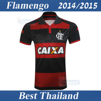 Flamengo RJ 14 15 Shirt Best Thai Quality Soccer Jersey Home Team Brasileiro Serie A Football Sport Clothing