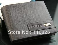 Free shipping+20pcs/lot+2012 fashion Mens Wallet+ Men Purse + Genuine leather+coffee color + 100%guarantee +wholesale W-B130