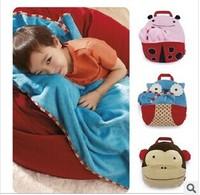 Children's Zoo velvet pillow quilt blankets are versatile travel blanket