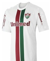 brazil league Fluminense away white  thai  top quality and patch soccer jerseys free shipping shirts ane print free