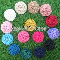 NEW Fashion baby girls Boutique hair accessorise 100% handmade 2''Turnip Strip Fabric Flower Baby Headhand headwear 100pcs/lot