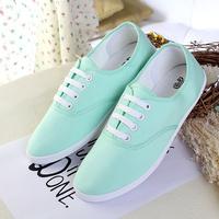 2014 new fashion  women sneakers flats shoes woman creepers Blue Red neon yellow free shipping EU 35-40