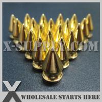DIY Brass Gold Tree Screw Back Spike/Leather Bag,Shoe,Bracelet,Belt,Clothing/Free Shipping/Wholesale Bulk