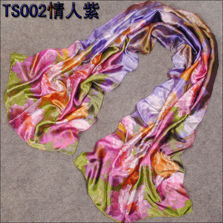 New Fashion Female Brand Design Imitated Silk Warm Cozy Scarf Women Print Flower Patterns Satin Soft Lady Winter Autumn Scarves(China (Mainland))