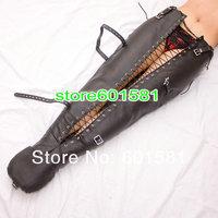 Adjustable full BLACK artificial Leather Jacket Straitjacket Armbinder BT7