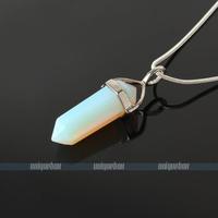 1Pcs Mixed Hexagonal Point Reiki Chakra Pendant Necklaces Beads