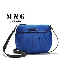Hot sale! 2014 MANGO brand women messenger bag Ruched Nylon designers women's handbag famous brand design cross body small bag