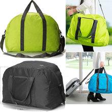Viajes 1pcs Hombres y Mujeres multifunción Gran Capacidad de nylon plegable bolso único ( 46 * 35 * 13cm , 4 colores )(China (Mainland))