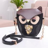 New 2014 Fashion Owll ovely animal fox ladies Design PU Leather Women Shoulder Bag Cross Body Bag For Woman Handbag party bag