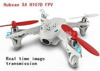 Hubsan X4 H107D FPV 4CH 6 Axis Camera RC Quadcopter RTF w/ 5.8G FPV 6CH Transmitter LED Light Free Shipping
