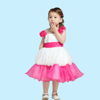 2014 New Free shipping Flower White dress Pure Lantern skirt Suitable for children under 16 years Wholesale Boutique