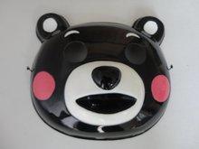 Frete grátis máscara de urso Amor / máscara de PVC / urso preto 20pcs máscara traje máscara / lot(China (Mainland))