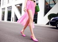 New 2014 Summer shorts women short  Chiffon Black White Elastic Waist Shorts Split Skirt Shorts Loose  Short Pants Free Shipping