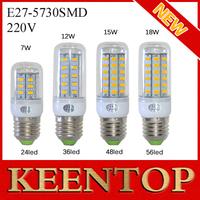 E27 24Led 36Led 48Led 56Led Bulb Smd 5730 7w 12w 15w 18w Corn Lamps Pendant Light Spotlight Solar Ceiling Led Lighting 6Pcs/Lot