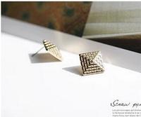 Free Shipping  jewelry irregular cube earrings. 6pcs/lot