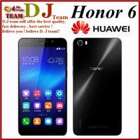 Huawei Honor 6 Dual Sim 4G FDD LTE WCDMA Hisilicon Kirin 920 1.7Ghz Octa Core 3GB RAM 16GB ROM mobile phone Free Shipping