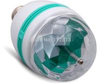 3W E27 Full Color RGB LED Auto Rotating DJ Stage Light Xmas Party Lamp Bulb NEW