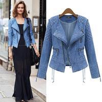 2014 European and American brands Hitz long-sleeved cardigan denim jacket women short paragraph small coat jacket BM-029