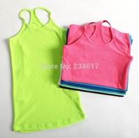The new summer Autumn 2014 women's new halter- halter vest big girl Children Clothing Underwears Cotton shirt bottoming