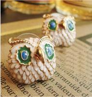 Free Shipping  New Fashion Vintage beautiful cute large Eyes Owl Earring  6pcs/lot