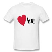 T Shirt Men Solid Love Ya Custom Your Own Fashion Style Men T Shirts(China (Mainland))