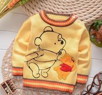 Reborn babies sweaters,knitted winter sweater,baby boys pullovers,brand cartoon bear print,roupa bebe clothing,bebe reborn