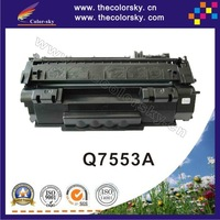 (CS-H7553A) compatible toner cartridge for HP P2015 P2014 P 2015 2014 Q7553A Q7553 Q 7553A 7553 53A 53 BK (3K pages) free FedEx