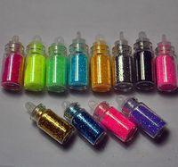 12 Color Nail Mini Bottle Glitter Powder Decoration Nail Art 3D Powder Dust Set