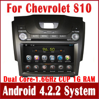 Android 4.2 Car DVD Player for Chevrolet S10 2013 with GPS Navigation Radio BT CD USB MP3 AUX iPod DVR 3G WIFI Auto Audio Stereo
