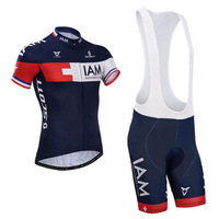 free shipping 2014 IAM Team  short sleeve cycling jersey and bib shorts set/Ciclismo jersey/bicycle wear