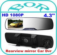 "Original 4.3"" Car Camera Rearview Mirror Dash Vehicle Car DVR Video Recorder +1920*1080P Full HD"