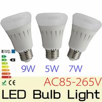10PCS  E27 5W 7W 9W AC85-265V, Epistar 5730 LED Bubble Ball bulb Non-Diemmabl led light lamp bulb