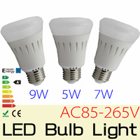 10PCS  E27 5W 7W 9W AC85-265V, Epistar 5730 LED Bubble Ball bulb Non-Diemmabl led light lamp bulb