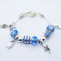 new arrival 2014 angel blue beaded charm bracelet  for women accessorie beaded bracelets and bangles DIY jewelry wholesale PA180
