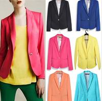 NALULA Hot Women Blazers And Jackets Women Casacos Femininos Candy Color Slim Coat Women Blazer Coat Jacket Female AS1325