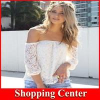 Free shipping 2014 new lace blouses women chiffon shirt lace hollow yarn blouse blusa shorts women blouses Chiffon