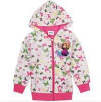 2014 autunm girls butterfly coat kids cotton long sleeve cartoon coat girls princess cloth
