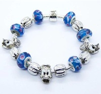 new arrival 2014 cute duck blue beaded bracelet vintage bracelet for women accessories wholesale bracelet cuff  PA049