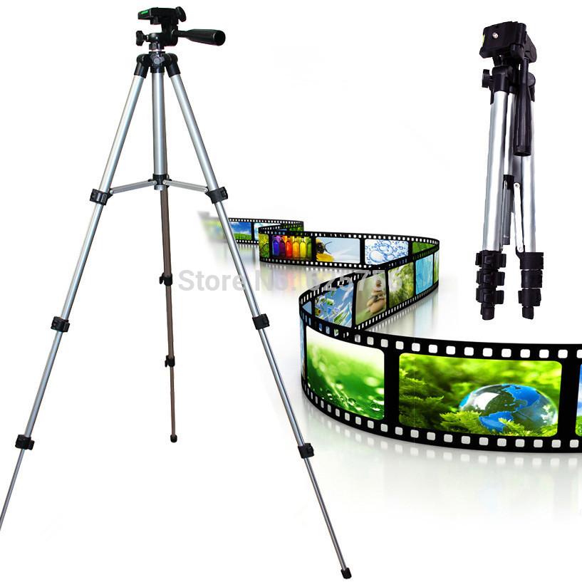 Free Shipping + Universal Gopro Tripod 4 Sections Lightweight Tripod Portable Tripod for Fuji Canon Sony Nikon Camera With Bag(China (Mainland))