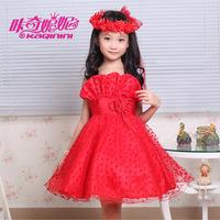 2014 new summer flower girl dresses for weddings tank white red pink dress for girls pageant party dress gowns vestido de festa