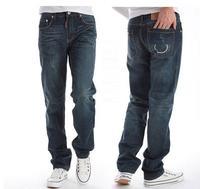 free shipping brand denim mens jeans fashion straight designer jeans for men pants