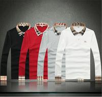 2014 new famous classic brand polo men turn-down collar long sleeve POLO shirt The British Designer men polos, S-XXL B1804