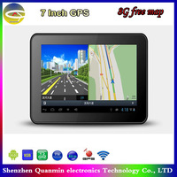 7 inch car Android GPS navigation +A13 1.2GHZ+DDR512M+Android4.0+FM Transmitter+AVIN+800*480+8GB Naivtel or IGO free map
