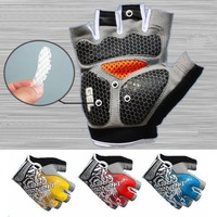 2014 New Arrival!!New High Quality Cycling Bike Bicycle gloves Hexagon 3D GEL Shockproof Sports Half Finger Glove Size M-XL